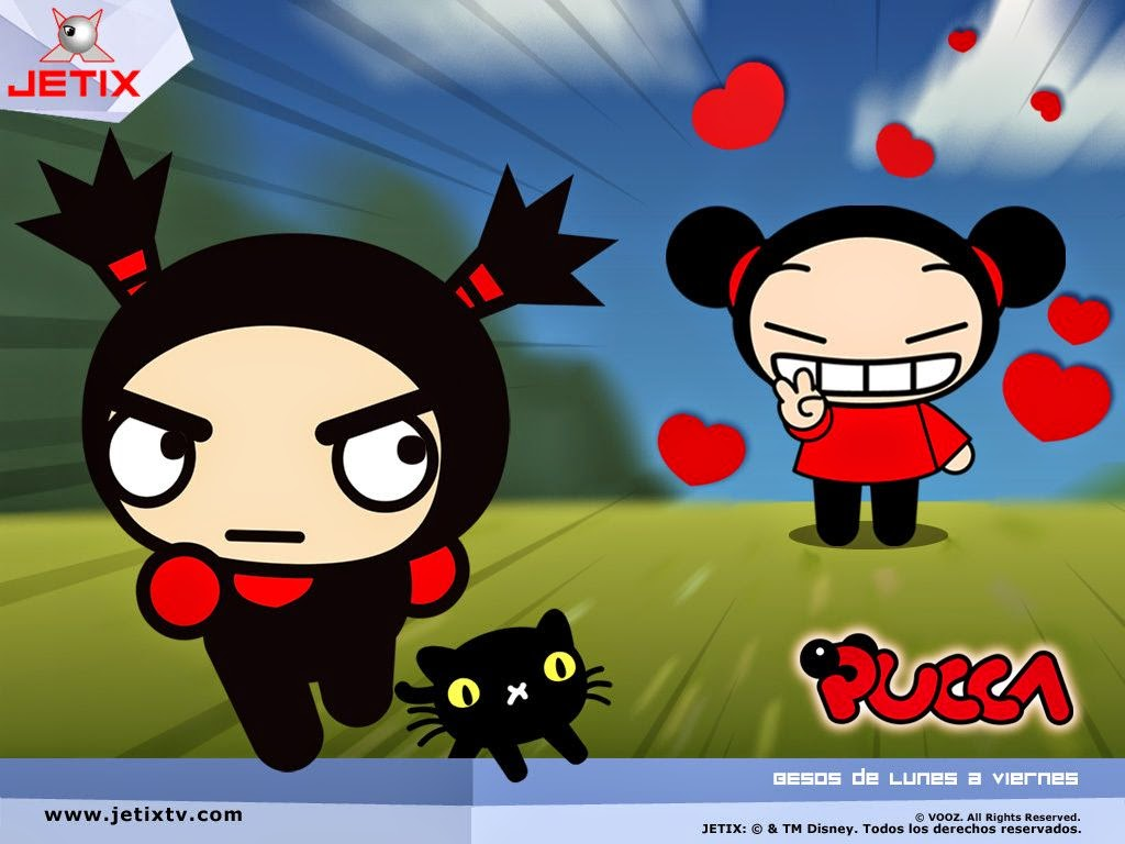 Garu and Pucca Free Printable Invitations, Labels or Cards.