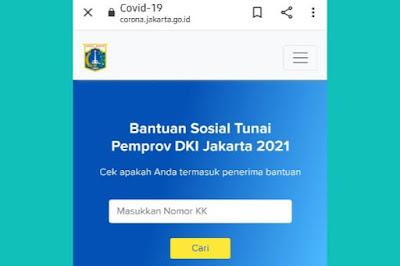 Cara Dapat Rp600000 Dari Bansos BST Bank DKI Cek di Link Corona.Jakarta.Go.Id