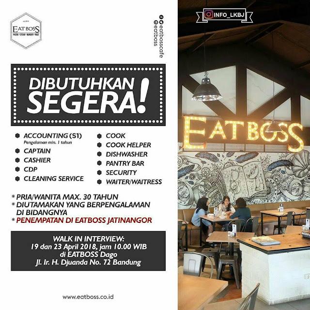 Lowongan Kerja EATBOSS Bandung