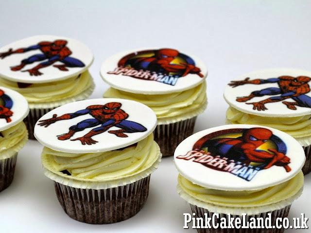 Spiderman Birthday Ccupcakes