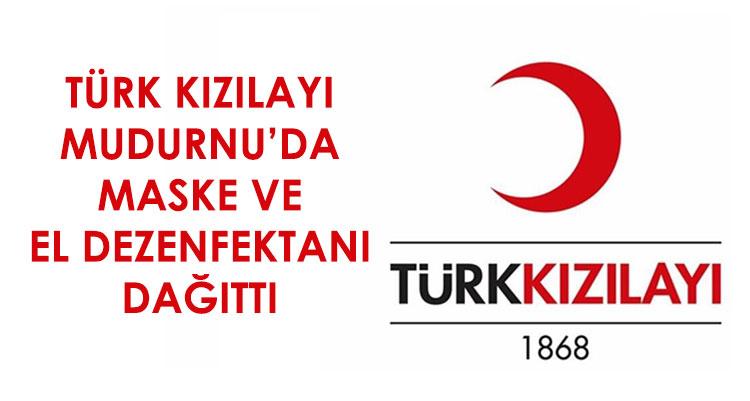 Türk Kızılayı Mudurnu Şubesi Maske ve Dezenfektan Dağıttı