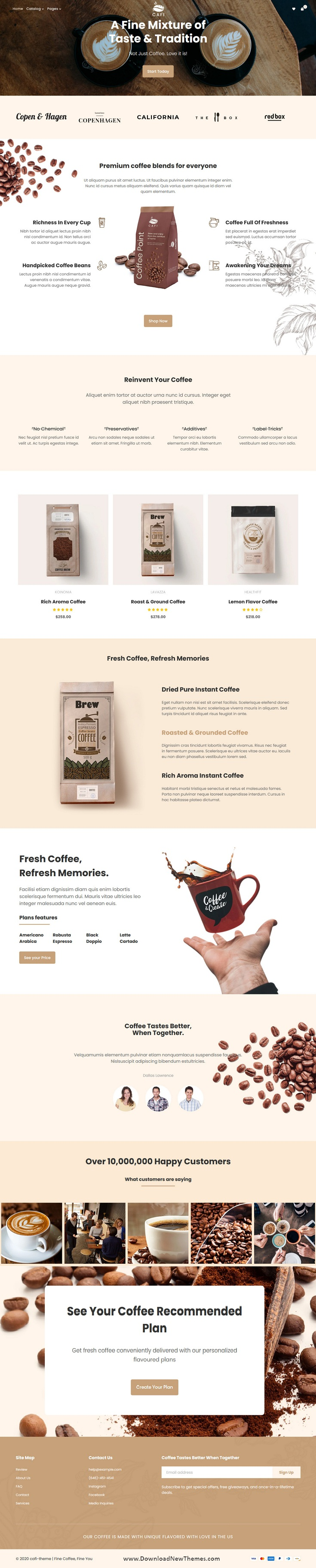 Coffee Shops & Cafés Responsive Shopify Theme