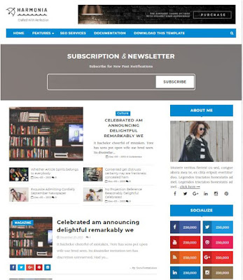 Harmonia Adsense Responsive Blogger Templates Without Footer Credit