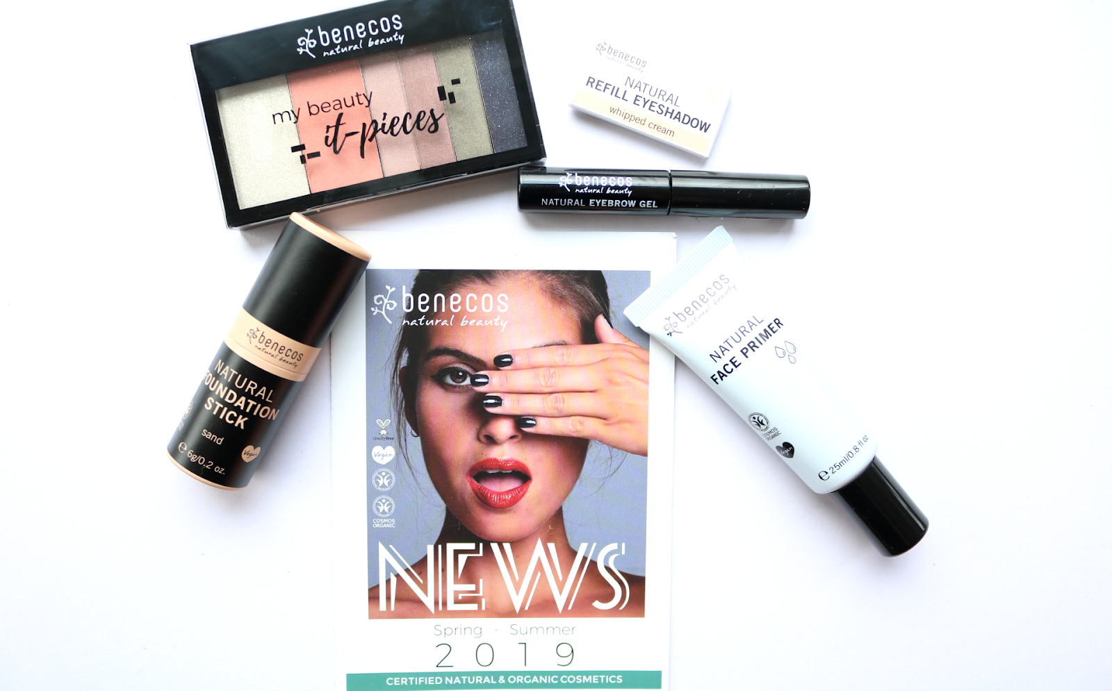 New In Beauty: Benecos S/S19 Makeup - Natural Face Primer, Foundation Stick, Eyebrow Gel & Refillable Makeup Palette review