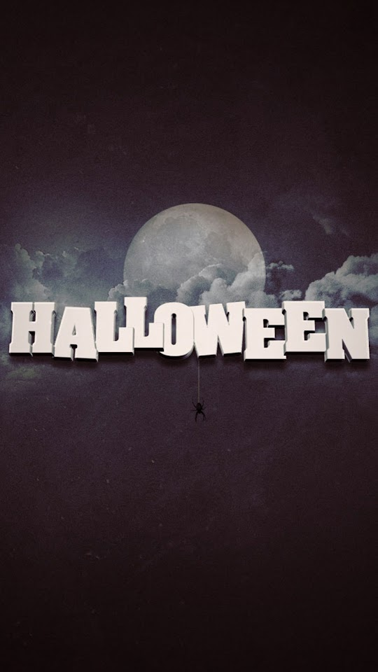 Full Moon Halloween Text  Galaxy Note HD Wallpaper