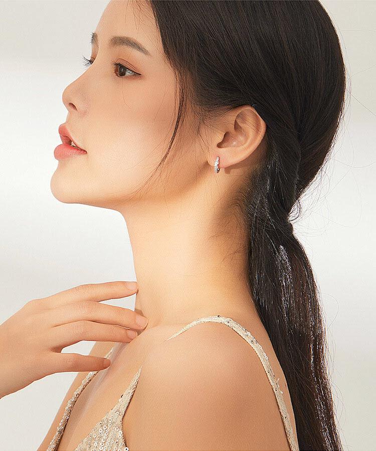 無限 925純銀鋯石耳環