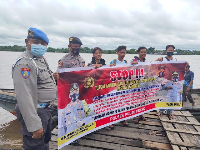 Polsek Pulau Petak Sosialisasilan Illegal Mining