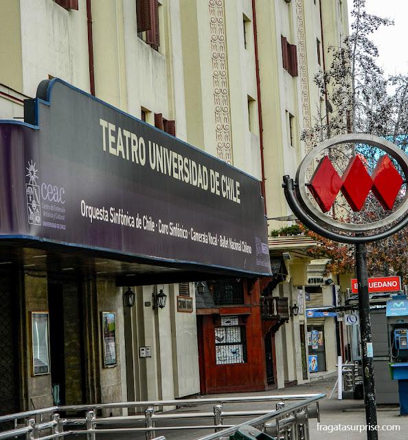 Estação Baquedano do metrô de Santiago do Chile