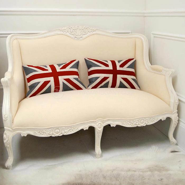 Sofa Tamu Baroque Putih