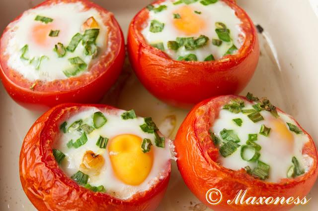 Фаршированные запеченные помидоры