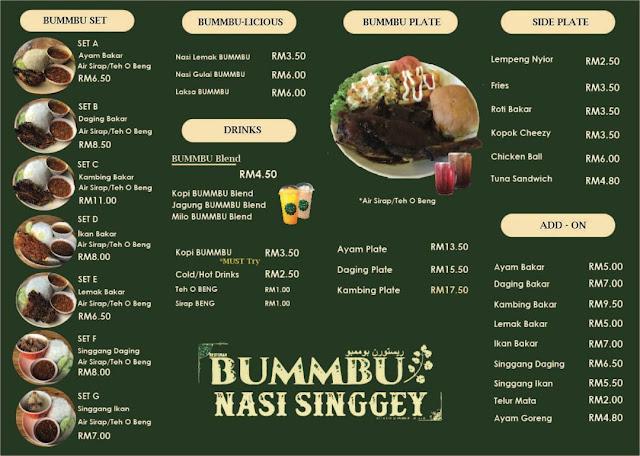 Lauk Singgang Sedap Menu Istimewa Di Restoran Bummbu Nasi Singgey Kuantan
