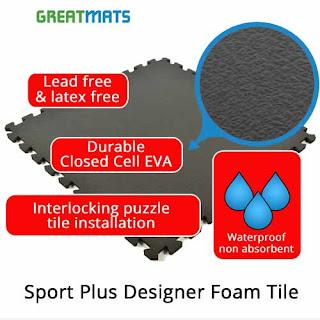 Greatmats sport plus designer foam tiles
