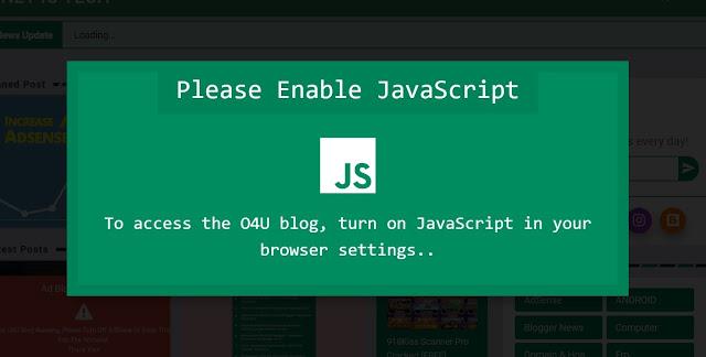 Cara Terbaru Memasang Anti No Script Di Blogger