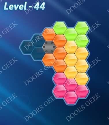 Block! Hexa Puzzle [5 Mania] Level 44 Solution, Cheats, Walkthrough for android, iphone, ipad, ipod