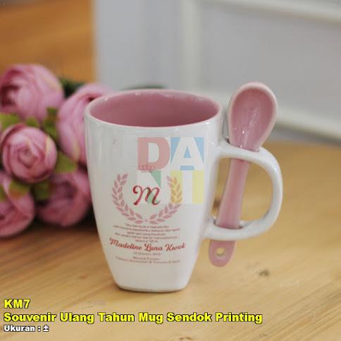 Souvenir Ulang Tahun Mug Sendok Printing