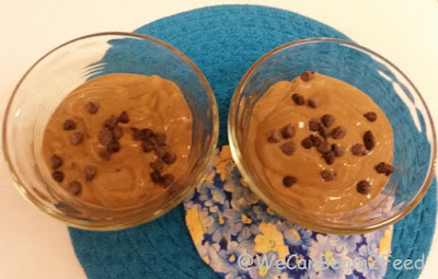 Chocolate Mint Avocado  Protein Mousse