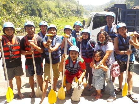 Rafting di Bali paling asyik di Waja River