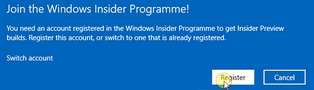 join windows insider programme Register
