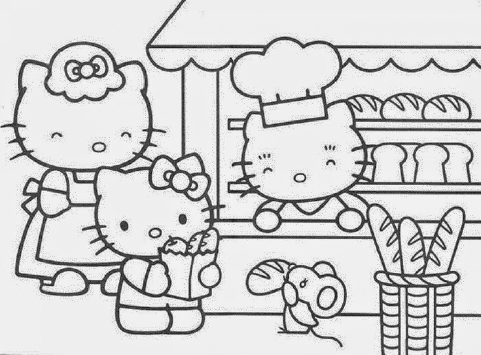 Hello kitty and friends coloring pages - Hellokids.com | Free Coloring Pages Hello Kitty And Friends  | title