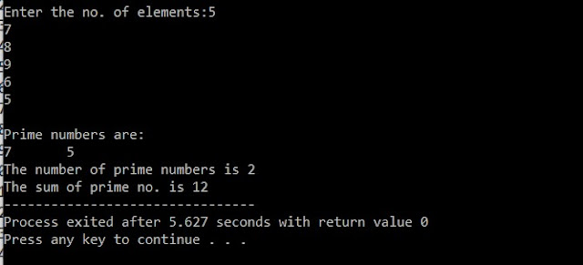 C Program To Find Prime Number From Inputted Numbers