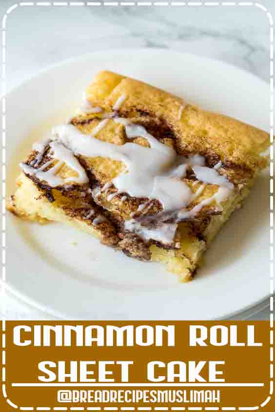 Cinnamon Roll Sheet Cake is ready to devour in just 30 minutes and will make your whole house smell like cinnamon rolls! #Bread #Recipes #homemade #rustic