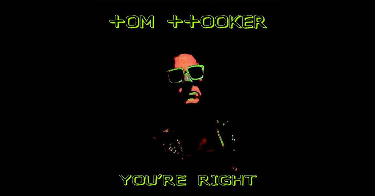 La copertina di ''You're right'' di Tom Hooker, pezzo Italo Disco del 2018
