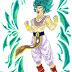 Dessin couleur de Broly en Super Saiyan God - Dragon Ball Super