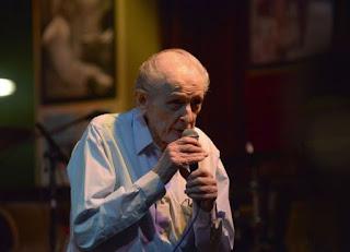 Joe Segal Introducing Musical Act at Jazz Showcase