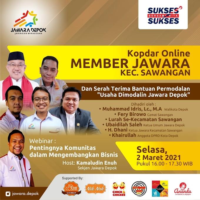 Jawara Depok Berikan Bantuan Usaha Untuk Member UMKM