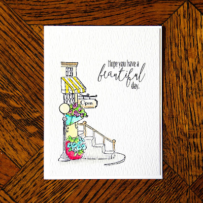 Watercolor card using AI Shoppes Stamp set.