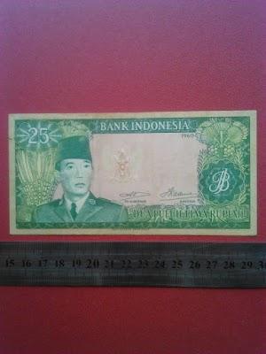 25 rupiah tahun 1960