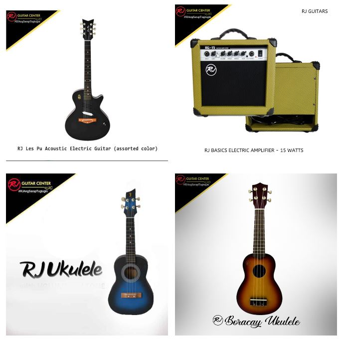 Get up to 35% off on Electric Guitar and Percussion Series at RJ Guitars on Shopee