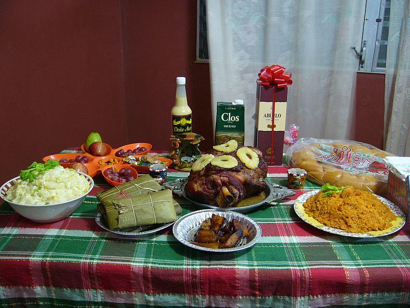 Cena de navidad panamena