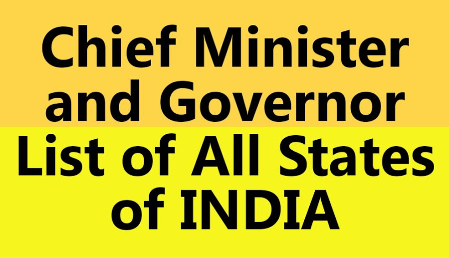 List Of Chief Minister And Governor Of All Indian States (PDF Download)