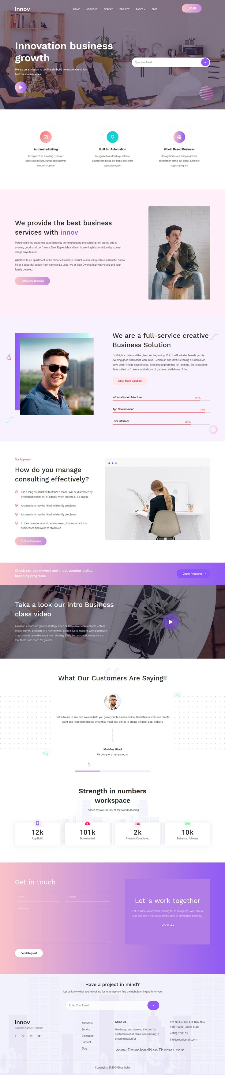 Free Download Innov Creative Business Agency HTML Template
