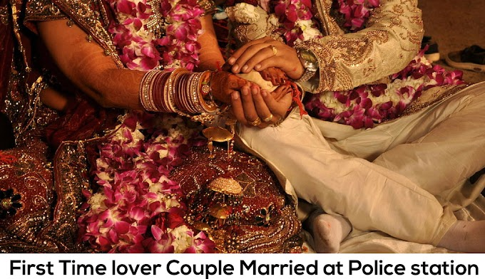 First Time lover Couple Married at Police station