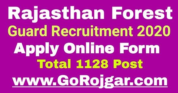 Rajasthan Forest Guard Recruitment 2020  Rajasthan Van Vibhag Bharti 2020 Online Form  राजस्थान वनपाल और वनरक्षक भर्ती 2020