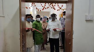 मंत्री श्री कावरे एवं विधायक श्री बिसेन ने जिला चिकित्सालय में सिटी स्कैन मशीन का किया शुभारंभ