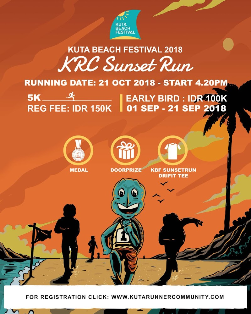 Kuta Beach Festival Sunset Run • 2018