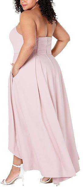Women's Plus Size Strapless Maxi Dresses