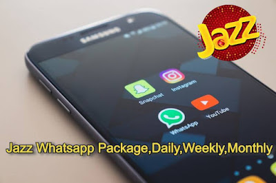 Jazz Whatsapp Packages 2021 - Jazz free whattsapp daily, weekly and monthly