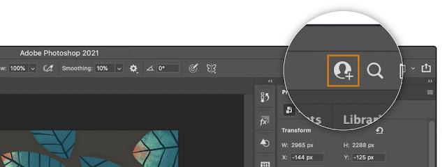 Photoshop, Illustrator dan Fresco memperkenalkan Kolaborasi Dokumen