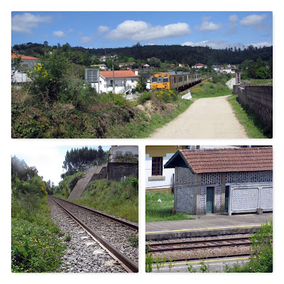caminho ferroviário, trem e estação de trem