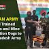 Indian Army gifted Trained horses and Mine Detection dogs  to Bangladesh Army