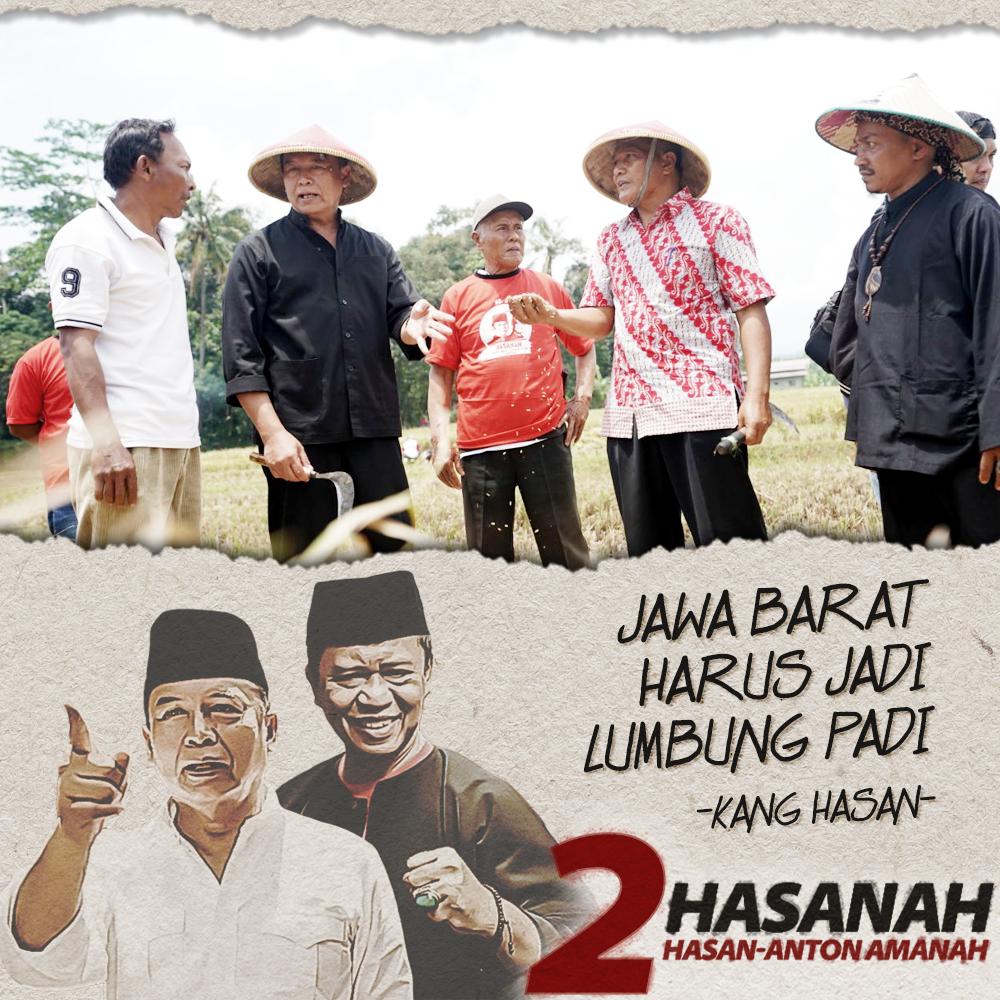 Keinginan Kang Hasan Menjadikan Jawa Barat Sebagai Lumbung Padi