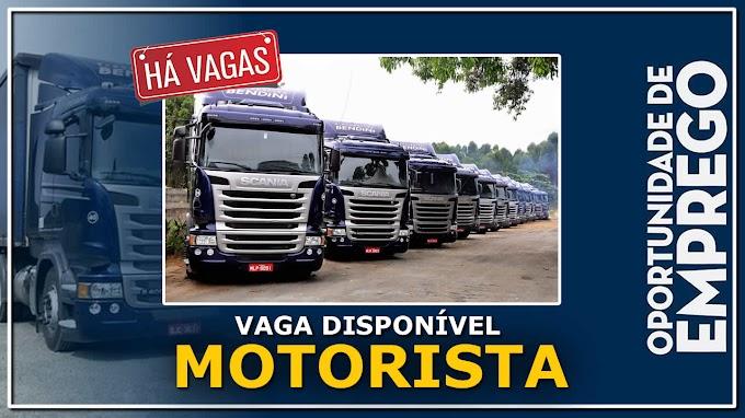 Transportadora Bendini abre vagas para motorista carreteiro salário até R$ 7.500