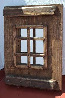 Artesan a r stica en madera for Marcos para espejos de madera rusticos