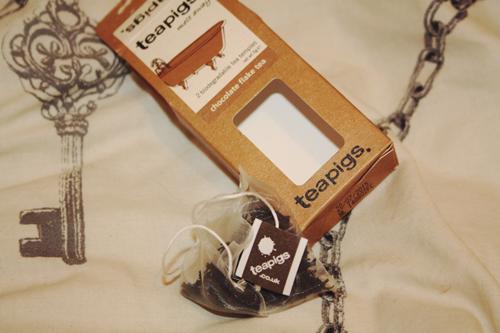 teapigs chocolate flake tea bags in tits packaging