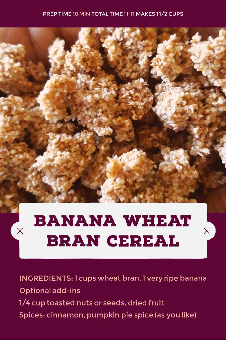Jamaican Foodie: Banana Wheat Bran Cereal