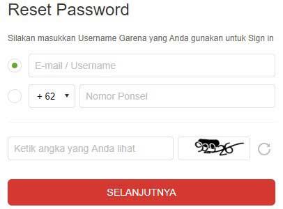 Lupa Password Akun Garena Reset Atau Ganti Password Yang Baru Tujuwan Com